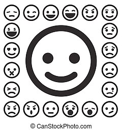Smiley faces icons set.Illustration eps10