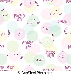 Smiley faces pattern