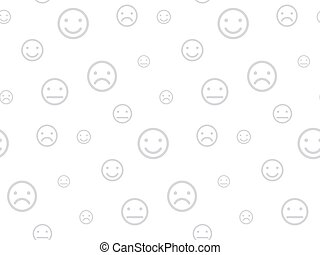 Smiley faces seamless background