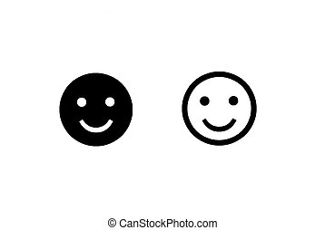 Smiley faces - Two smile faces on white background