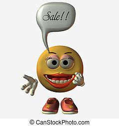 Smiley Girl - Sale - 3D Render