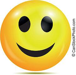 smiley, glücklich