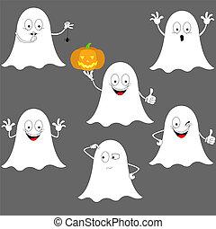 Smiley halloween ghosts.
