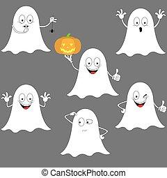 smiley, halloween, ghosts.