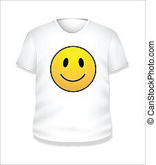 Smiley Happy White T-shirt Design