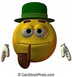 smiley-hat, y, tubo