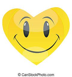 smiley heart