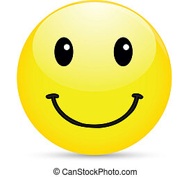 Smiley icon on white background