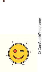 Smiley icon design vector