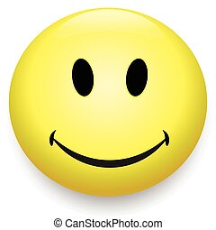 Smiley icon, smile face yellow symbol of happyness
