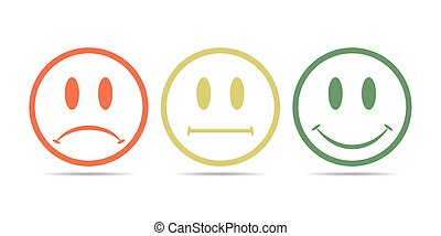 Smiley icons. Vector illustration.