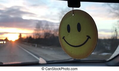 Smiley in the car