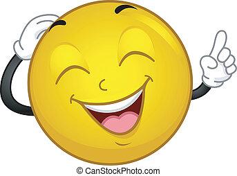 smiley, lachender