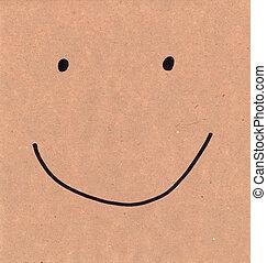 smiley, ligado, papel