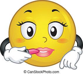 smiley, lippenstift