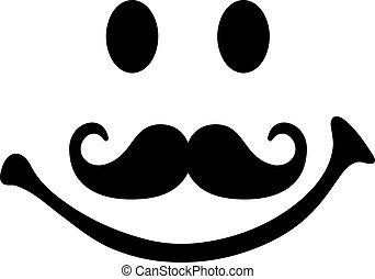 smiley, moustache, figure