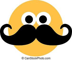 smiley, moustache
