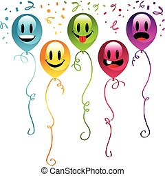 Smiley Party Balloons