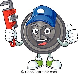 Smiley Plumber camera lens on mascot picture style