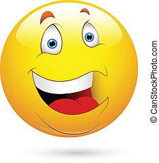 smiley, reír, cara