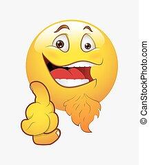 smiley, reír, señalar el dedo