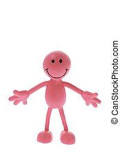 Smiley Rubber Figure