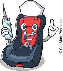 smiley, säte, baby, tecknad film, bil, tecken, injektionsspruta, sköta
