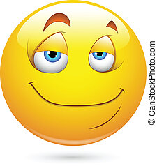 smiley, satisfecho, cara