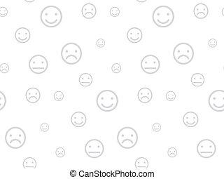 smiley, seamless, fondo, facce