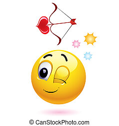 Smiley - Smiling ball as Cupid