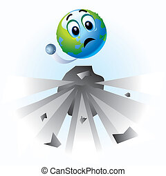 Smiley - Smiling ball as Earth in danger