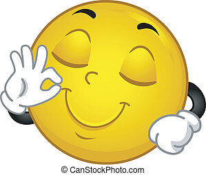 smiley, soddisfatto