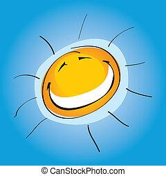 smiley, soleado, (illustration)