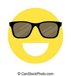 smiley, sonnenbrille, gesicht