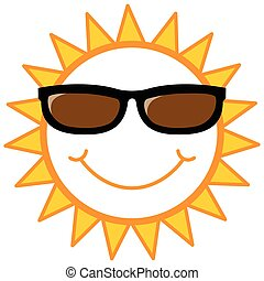 smiley sun with sunglasses