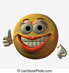 smiley-thumbs, cima