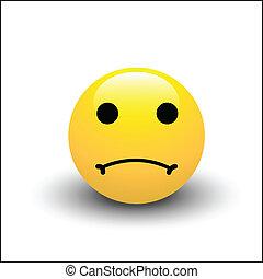 smiley, triste, rosto