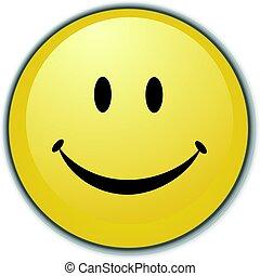 smiley twarz, guzik