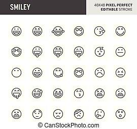 Smiley Vector Icon Set
