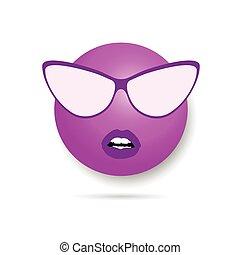 smiley violet illustration