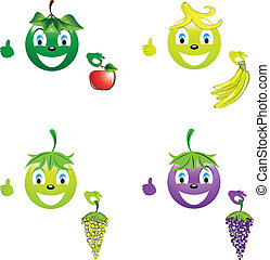Smiley with fruit for a healthy lifestyle