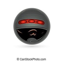 Smiley with Helmet Vector