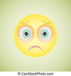 Smiley with sad emotion. Vector illustration eps10