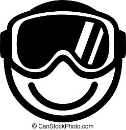 Smiley with Ski Goggles