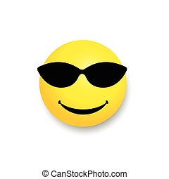 smiley with sunglass yellow illustration