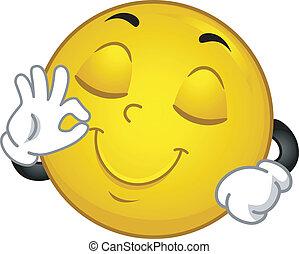 smiley, zufrieden
