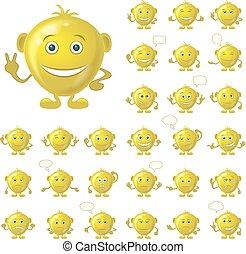 smileys, χρυσαφένιος , θέτω