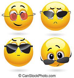 Smileys - Smiling ball wearing cool glasses