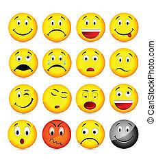 smileys, gelber