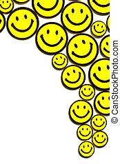 smileys, jaune